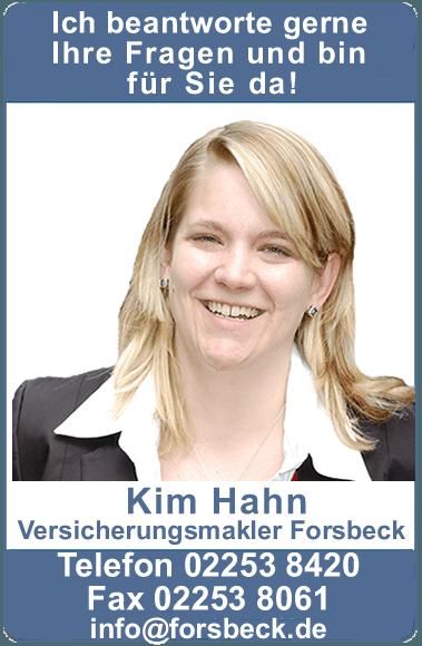 <h1>Kim Hahn Geschäftsinhaberin Leo Forsbeck Versicherungsmakler Bad Münstereifel</h1>
