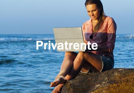 Die Privatrente unsrtützt Sie darin, Ihren Lebensstandard im Alter zu halten