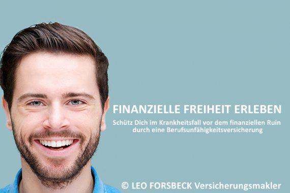 Finanzielle Freiheit erleben - eine BU schützt Dich im Krankheitsfall