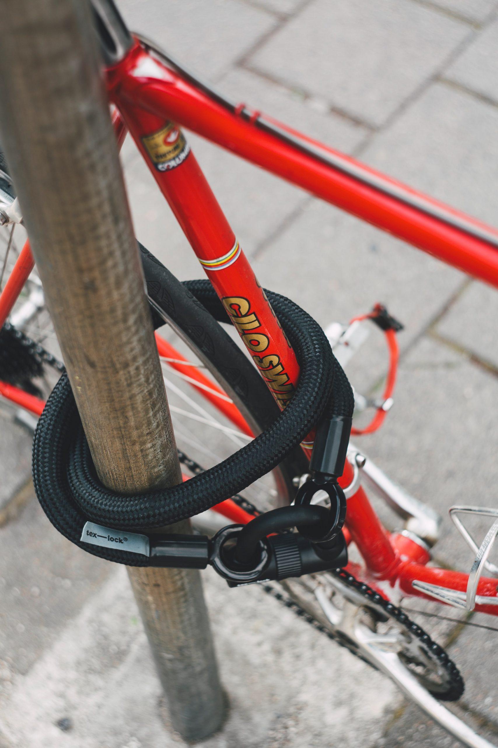 Kettenschloß am Fahrrad