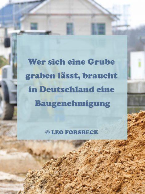 Bauen ohne Baugebehmigung kann teuer werden
