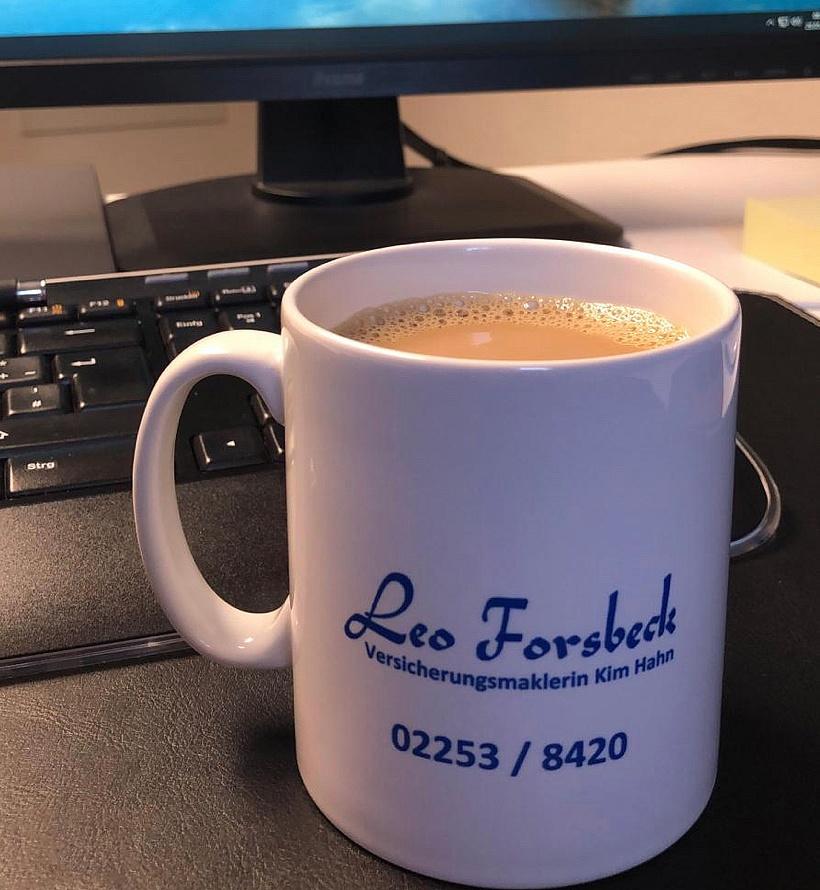 Leo Forsbeck Versicherungsmakler Tasse