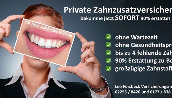 Zahnzusatzversicherung ohne Wartezeiz