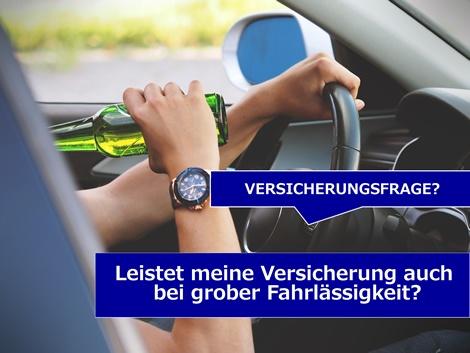 Autofahren unter Alkohol ist tabu.